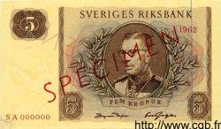 5 Kronor SUÈDE  1962 P.50s pr.NEUF
