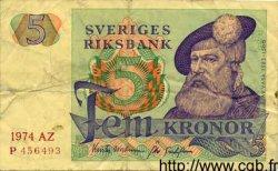 5 Kronor SUÈDE  1974 P.51c TB+