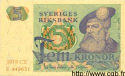 5 Kronor SUÈDE  1978 P.51d pr.NEUF