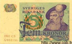 5 Kronor SUÈDE  1981 P.51d NEUF