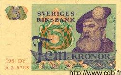 5 Kronor SUÈDE  1981 P.51d pr.NEUF
