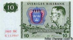 10 Kronor SUÈDE  1983 P.52e NEUF