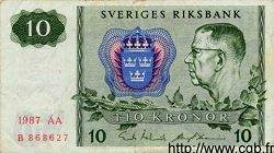 10 Kronor SUÈDE  1987 P.52e TTB