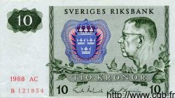 10 Kronor SUÈDE  1988 P.52e SUP+