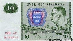 10 Kronor SUÈDE  1990 P.52e SUP+
