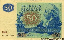 50 Kronor SUÈDE  1984 P.53d TTB
