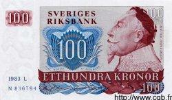 100 Kronor SUÈDE  1983 P.54c NEUF
