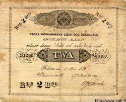 2 Riksdaler Schillingar SUÈDE  1836 PS.521 TB
