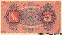 5 Kronur ISLANDE  1920 P.15b NEUF