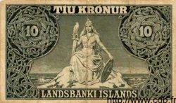 10 Kronur ISLANDE  1928 P.23 TB à TTB