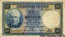 10 Kronur ISLANDE  1934 P.28a TB+