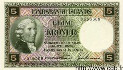 5 Kronur ISLANDE  1948 P.32a NEUF