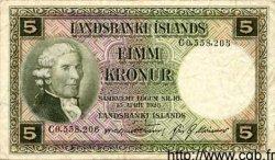 5 Kronur ISLANDE  1948 P.32a