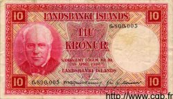 10 Kronur ISLANDE  1948 P.33a TB