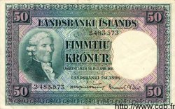 50 Kronur ISLANDE  1948 P.34a TTB