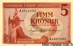 5 Kronur ISLANDE  1957 P.37a NEUF