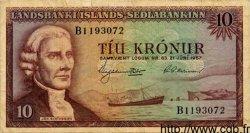 10 Kronur ISLANDE  1957 P.38a pr.TB