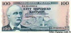 100 Kronur ISLANDE  1961 P.44 NEUF