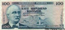 100 Kronur ISLANDE  1961 P.44 TTB