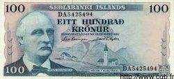 100 Kronur ISLANDE  1961 P.44 SUP