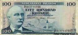 100 Kronur ISLANDE  1961 P.44 TB