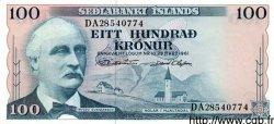 100 Kronur ISLANDE  1961 P.44 SPL