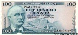 100 Kronur ISLANDE  1961 P.44a NEUF