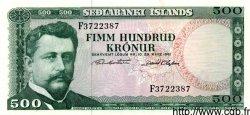 500 Kronur ISLANDE  1961 P.45a NEUF