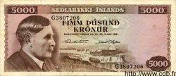 5000 Kronur ISLANDE  1961 P.47 TTB