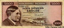 5000 Kronur ISLANDE  1961 P.47 pr.TB