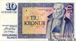 10 Kronur ISLANDE  1981 P.48 TTB