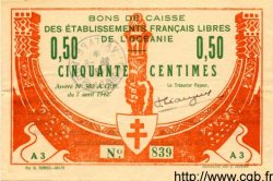 50 Centimes OCÉANIE  1942 P.007 TTB+ à SUP