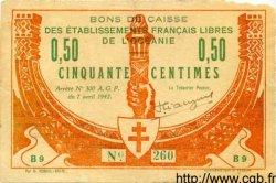 50 Centimes OCÉANIE  1942 P.07 pr.TTB