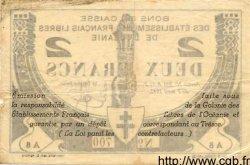 2 Francs INDOCHINE FRANÇAISE  1942 P.009 TB+ à TTB
