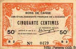 50 Centimes INDOCHINE FRANÇAISE  1943 P.010c TTB