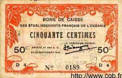 50 Centimes INDOCHINE FRANÇAISE  1943 P.010a TTB