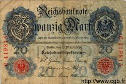 20 Mark ALLEMAGNE  1906 P.025a B+