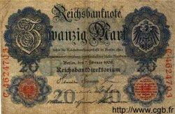 20 Mark ALLEMAGNE  1908 P.031 B