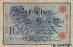 100 Mark ALLEMAGNE  1908 P.033a B+
