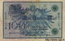 100 Mark ALLEMAGNE  1908 P.034 B