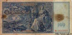 100 Mark ALLEMAGNE  1909 P.038 B