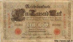 1000 Mark ALLEMAGNE  1909 P.039 B