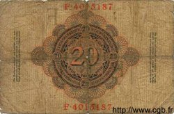 20 Mark ALLEMAGNE  1910 P.040b AB