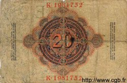 20 Mark ALLEMAGNE  1910 P.040c B+