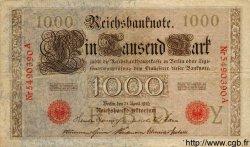 1000 Mark ALLEMAGNE  1910 P.044b TTB