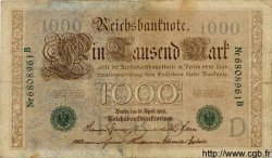 1000 Mark ALLEMAGNE  1910 P.045b B+
