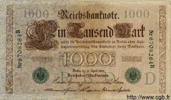 1000 Mark ALLEMAGNE  1910 P.045b TB