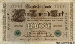 1000 Mark ALLEMAGNE  1910 P.045b TTB