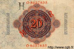 20 Mark ALLEMAGNE  1914 P.046bs SUP
