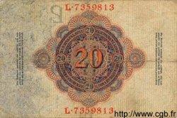 20 Mark ALLEMAGNE  1914 P.046b TB